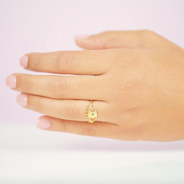 Katie-dean-jewelry-dainty-handmade-evil-eye-gold-ring-blue-crystal-1